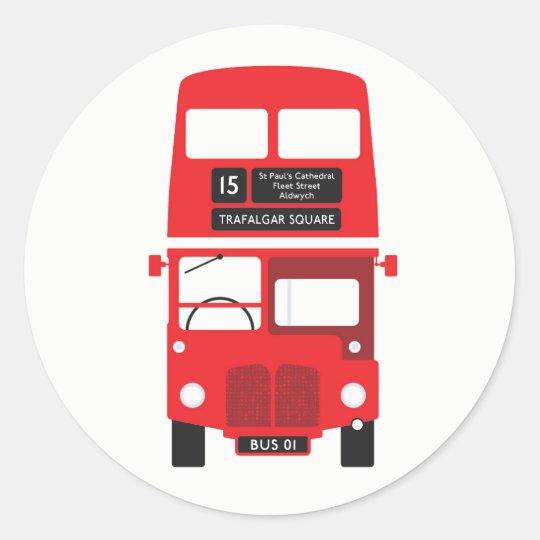 London Red Bus Sticker