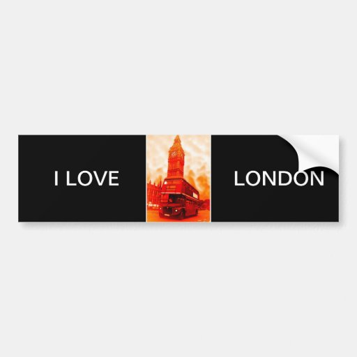 London Red Bus & the Big Ben Bumper Stickers
