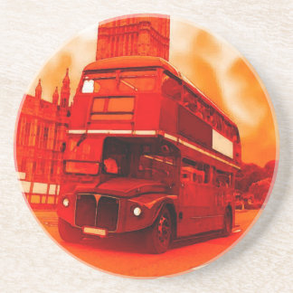 London Red Bus & the Big Ben Drink Coasters