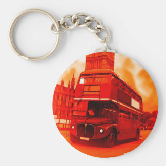 London Red Bus & the Big Ben Keychain