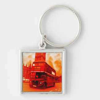 London Red Bus & the Big Ben Key Chain