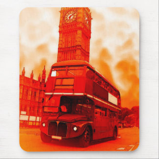 London Red Bus & the Big Ben Mouse Pad