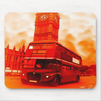 London Red Bus & the Big Ben Mousepads