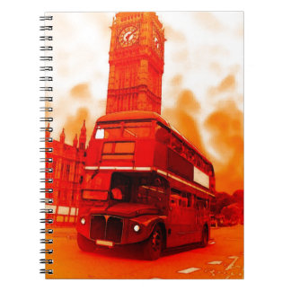 London Red Bus & the Big Ben Notebook