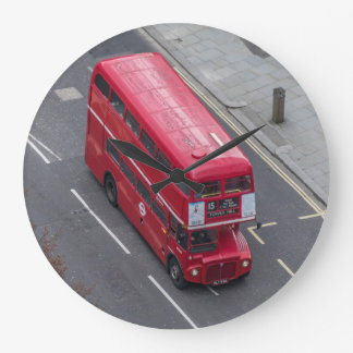 London red bus wall clock