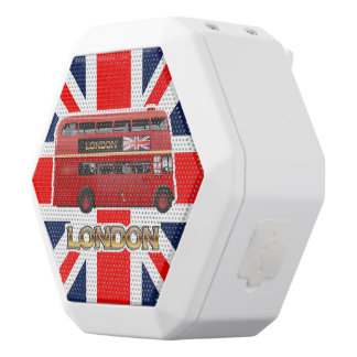 London Red Bus White Bluetooth Speaker