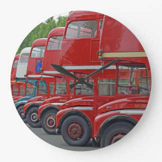 London red buses wall clock
