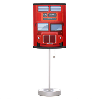 London Red Double Decker Bus Table Lamp