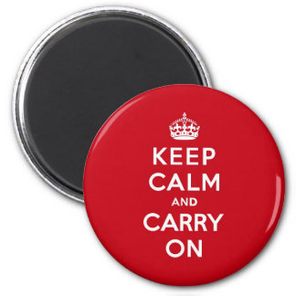 London Red Keep Calm and Carry On Magnet