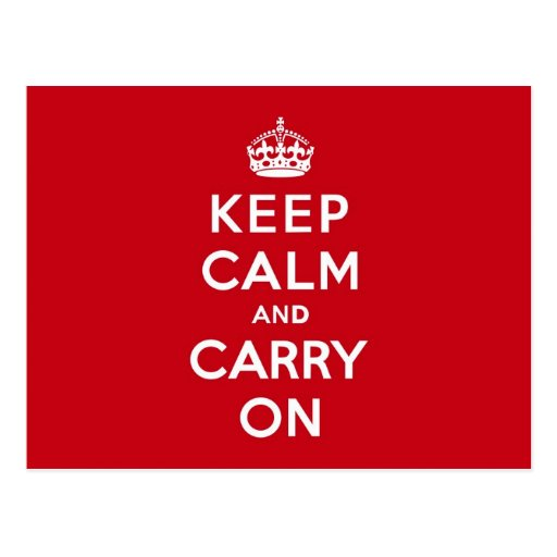 London Red Keep Calm and Carry On Postcard