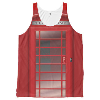 London Red Phone Booth  Call Box All-Over-Print Tank Top