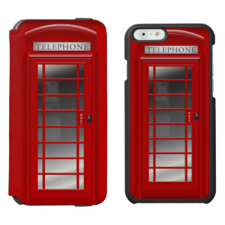London Red Phone Booth  Call Box Incipio Watson™ iPhone 6 Wallet Case