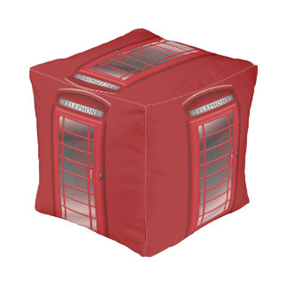 London Red Phone Booth  Call Box Pouf