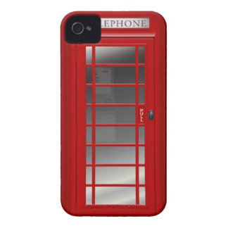 London Red Phone Booth Case-Mate iPhone 4 Cases