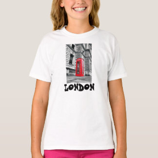 London Red Phone Booth Kids T-Shirt