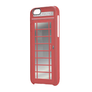 London Red Phone CallBox Phone Booth Clear iPhone 6/6S Case
