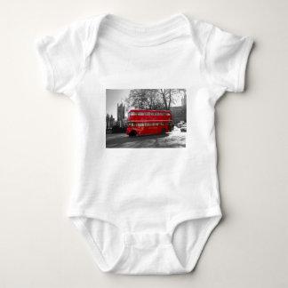 London Red Routemaster Bus Baby Bodysuit