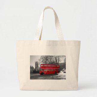 London Red Routemaster Bus Tote Bag