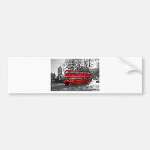 London Red Routemaster Bus Bumper Sticker