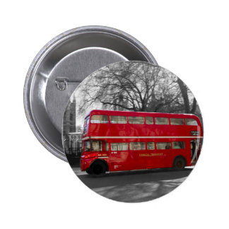 London Red Routemaster Bus Pinback Buttons