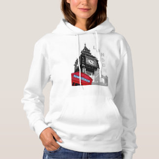 London red telephone big ben pop art hoodie