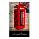 london red telephone booth fashion british flag business cards
