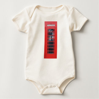 London Red Telephone Box Baby Bodysuit