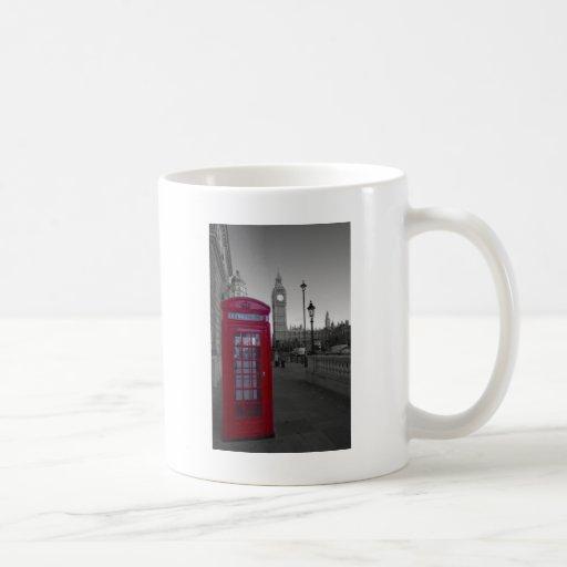 London Red Telephone box Basic White Mug