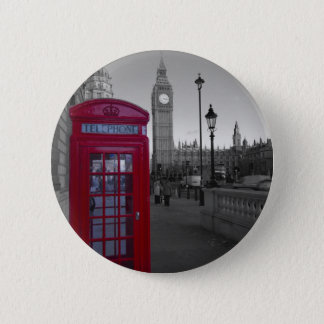 London Red Telephone box Button