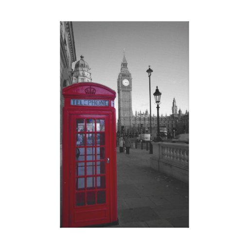 London Red Telephone box Gallery Wrap Canvas