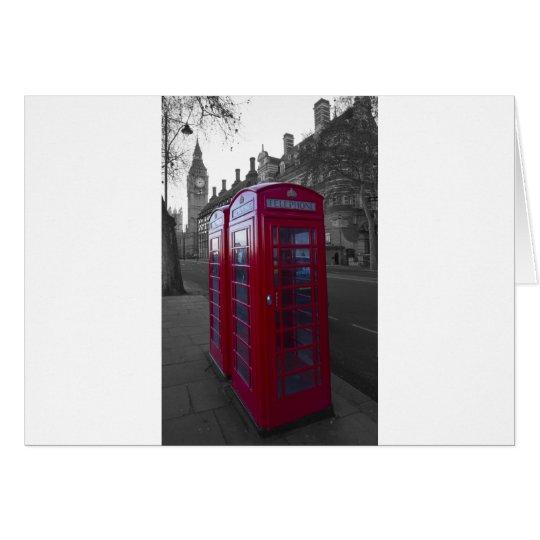 London Red Telephone box Card