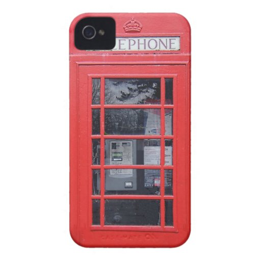 London Red Telephone Box Blackberry Bold Case