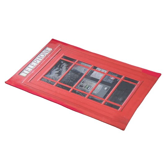 London Red Telephone Box Cloth Placemat
