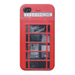 London Red Telephone Box Cover For iPhone 4