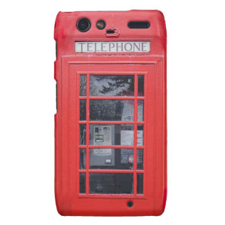 London Red Telephone Box Droid RAZR Cover
