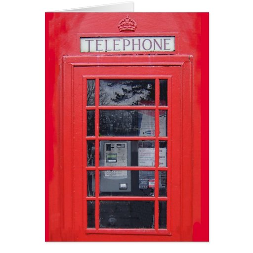 London Red Telephone Box Greeting Cards