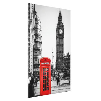 London Red Telephone Box in Westminster Canvas Print