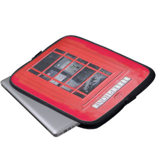 London Red Telephone Box Laptop Computer Sleeve