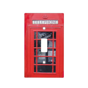 London Red Telephone Box Light Switch Cover