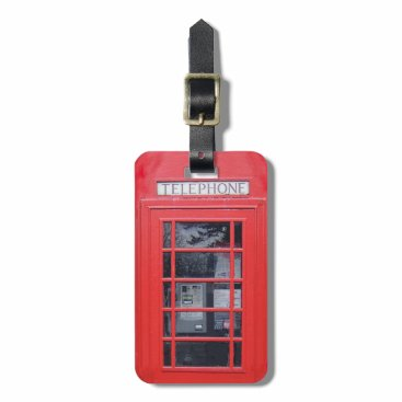 inspirationzstore London Red Telephone Box Luggage Tag