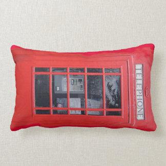 London Red Telephone Box Lumbar Pillow