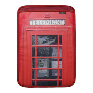 London Red Telephone Box MacBook Sleeve