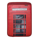 London Red Telephone Box MacBook Sleeves