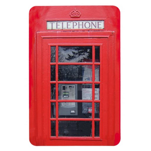 London Red Telephone Box Magnet