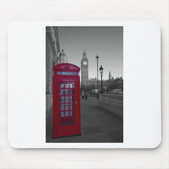 London Red Telephone box Mouse Pad