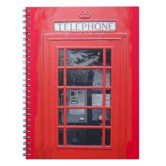 London Red Telephone Box Notebook