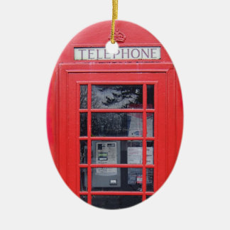 London Red Telephone Box Christmas Tree Ornaments