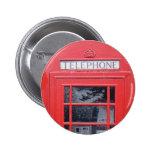 London Red Telephone Box Pinback Button