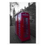 London Red Telephone box Post Card