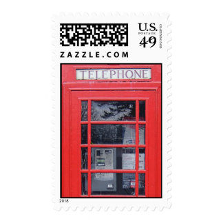 London Red Telephone Box Postage Stamps
